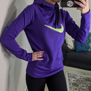 Nike therma-fit hoodie fleece lined w/ thumb holes